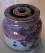 Studio Art Pottery Jar Crock with Lid Signed by Artist