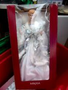 Mikasa Exquisite 24 Angel Tree Topper Angel Silver And White Rare Htf