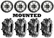 Kit 4 Interco Sniper At Tires 28x9-14/28x11-14 On Frontline 556 Machined Vik