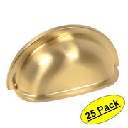 25 Pack Cosmas Cabinet Hardware Brushed Brass Bin Cup Handle Pulls 4310bb