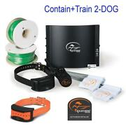 Sportdog 2 Dog Contain N' Train Sdf-ct Fence 425 Trainer 20g Wire 1 Acre 1000ft.