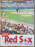 Oct 1,1967 Red Sox Official Program And Scorecard-red Sox Vs Twins-sox Win Pennant