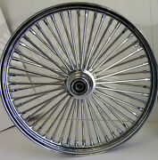 Dna Chrome Mammoth 52 Fat Spoke 23 X 3.5 Front Wheel Softail Touring Dyna Harley