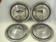 1961 Ford Hubcaps Starliner Galaxie Fairlane Set Of 4 Vintage