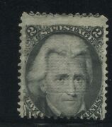 1868 Us Stamp 85b 2c Mint No Gum Z. Grill Catalogue Value 6750 Certified