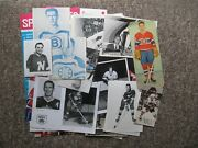 Fifty Two 1950's To 1980's Nhl Photos And Postcards. Lafleur, Richard, Gretzky Etc
