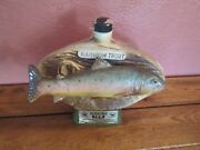 James Jim Beam Decanter Bottle Empty Rainbow Trout 1975 National Hall Of Fame