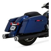Vance And Hines 4 Monster Rounds Slip-on Mufflers For 17-18 Harley Touring