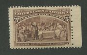 1893 Us Stamp 234 5c Mint Never Hinged Fine Catalogue Value 150