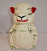 Vintage American Bisque Abco Pottery Lamb / Sheep Cookie Jar. 1940