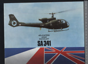 192 Brochure Hélicoptère Aircraft Helicopter Sud Aviation Westland Sa341