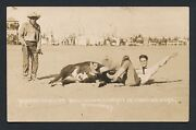 1910's Yakima Canutt, Cheyenne Frontier Days Rodeo Vintage Real Photo Postcard