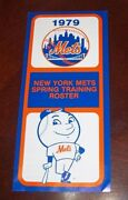 New York Mets Baseball Spring Training Roster And Schedule 1979