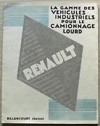 Renault Commercial Vehicles Haulage Sales Brochure 1930 French Text C-33-1-30