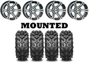 Kit 4 Interco Swamp Lite Tires 25x8-12/25x10-12 On Itp Ss212 Machined Wheels Ter