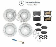 For Mercedes X117 X156 Cla45 Amg Set Of 2 Front And Rear Brake Disc And Pads Genuine