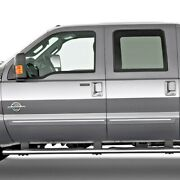 Painted Body Side Moldings With Chrome Insert For Ford F-250 Crew Cab 1999-2016