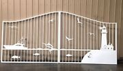 Wrought Iron Style Driveway Gate 14ft Ds Steel Residential Home Yard Security