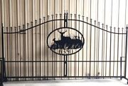 Steel Driveway Entry Gate 12 Ft Wd Single Swg. Inc Post Pkg Home Yard Security