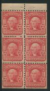 1903 Us Stamp 319g 2c Mint Never Hinged F/vf Booklet Pane Of 6 Type I
