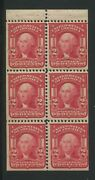 1903 Us Stamp 319g 2c Mint Never Hinged Very Fine Booklet Pane Of 6 Type I