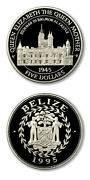 Belize Queen Mother Summer In Balmoral Castle 5 1995 Proof Silver Crown