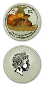 Australia Perth Mint Year Of The Mouse Rat 8 2008 5 Ounces .999 Silver Color