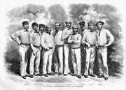 Cricket English Cricketeers The Eleven Of All England Cricket Team Members Sport