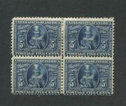 1907 Us Stamps 330 5c Mint Hinged Fine Block Of 4 Jamestown Exposition Issue