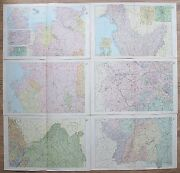 1898 Germany 6 Map Set Antique Maps Bacon