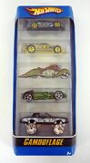 Hot Wheels Camouflage 5-pack Gift Set Die-cast Cars Misb 2006