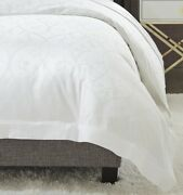 Sferra Somina Sateen Jacquard Duvet Cover With Embellished Scrollwork From Italy