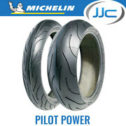 Michelin Pilot Power 120/70 Zr17 58w And 160/60 Zr17 69w Motorcycle Tyres Pair