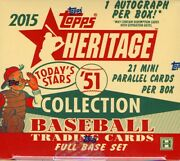 2015 Topps Heritage And03951 Collection Baseball Hobby Box Blowout Cards