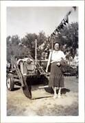 Woman With Ford Naa Golden Jubilee Tractor At 1953 South Dakota State Fair Photo