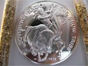7/8-oz. Crow Native American Indian Tribal Nations Art Coin Silver.999 + Gold