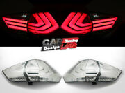 2 Smoked Lens Fully Led Tail Light Rearlight For 12-16 Nissan X-trail Rogue