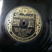 78rpm Bing Crosby Take Me Back To My Boots And Saddle / On Treasure Island