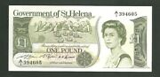 Government Of St. Helena One Pound Currency Note Pick 9 Paper Money 1 Pound