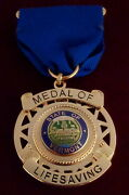 Medal Of Lifesaving State Of Vermont Vt Award Police/sheriff/fire/ems