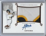 2017 Leaf Trinity Austin Beck Logo Letter Top Of At Patch Bronze Auto Rc A's