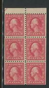 1916 Us Stamp 463a Mint Never Hinged F/vf Original Gum Booklet Pane Of 6