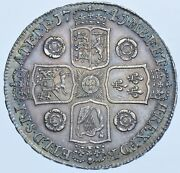 1741 Crown British Silver Coin From George Ii Aef