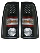 Tiffin Allegro Red 2009 2010 Black Led Pair Taillights Tail Lights Rear Lamp Rv