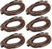 6 Ea 02356-07me 40' 16/3 Sjtw-a Brown Outdoor Electrical Extension Cords