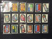 1982 Wacky Packages Album Sticker Lot Of 91 Vg-/vg+ Some Duplicates