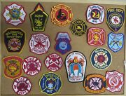 Wisconsin Fire/rescue Department Patches/badges Lot Of 20 See Item Desc