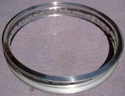 Wm4 2.50 X 19 -36 Hole Akront Italian Style Flanged Alloy Vintage Motorcycle Rim