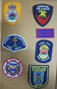 International Fire/rescue Department Patches/badges Lot Of 7 See Item Desc