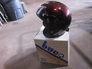 Vintage Nos Buco Size Small Candy Brown Poly Open Face 5 Snap Racing Helmet